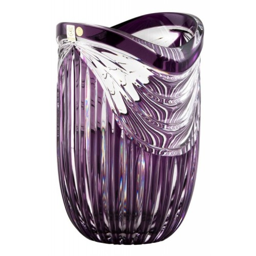 Vaso Harp, cristallo, colore viola, altezza 250 mm