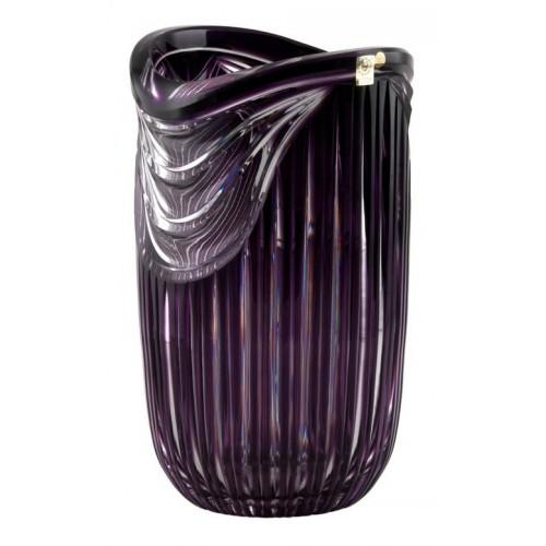 Vaso Harp, cristallo, colore viola, altezza 300 mm