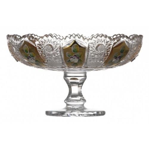 Portafrutta 500PK, cristallo trasparente dipinto oro, diametro 180 mm