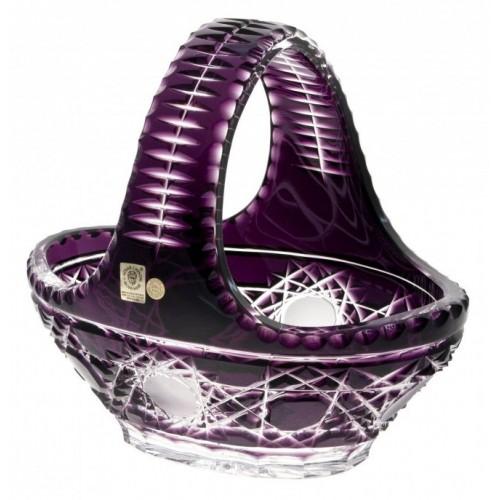 Cesto Flake, cristallo, colore viola, diametro 230 mm