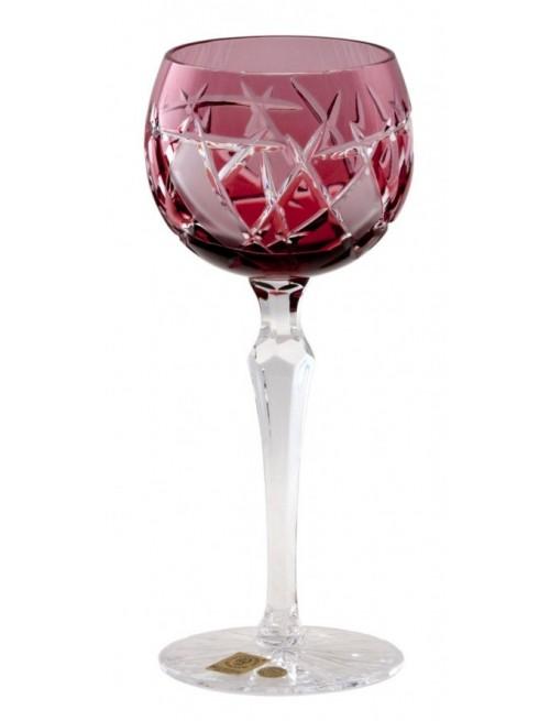 Bicchiere Mars, cristallo, colore rosso, volume 190 ml