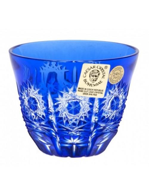 Bicchierino Paula, cristallo, colore blu, volume 65 ml