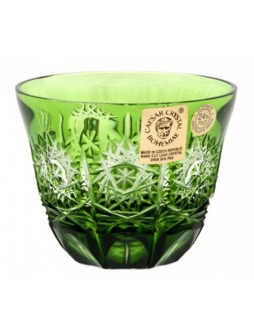 Bicchierino Paula, cristallo, colore verde, volume 65 ml
