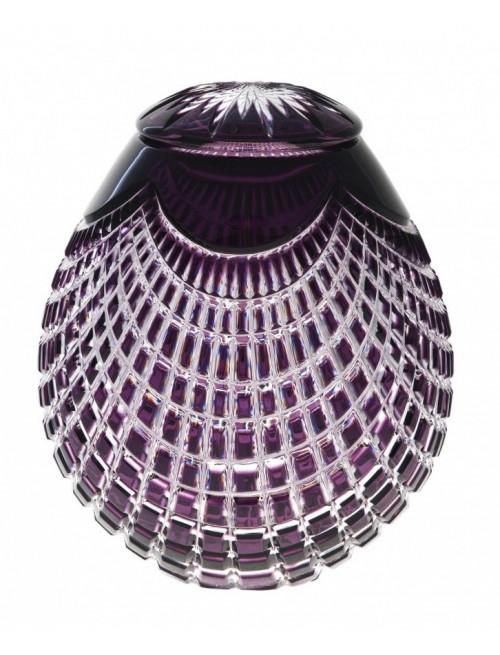 Urna Quadrus, cristallo, colore viola, altezza 230 mm