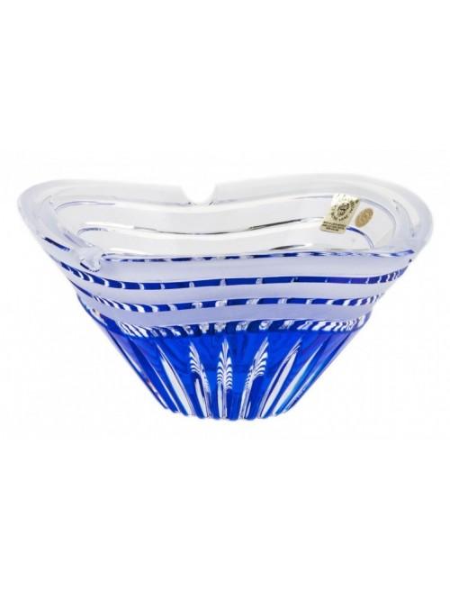 Portacenere Dune, cristallo, colore blu, diametro 180 mm