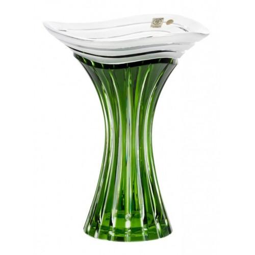 Vaso Dune, cristallo, colore verde, altezza 250 mm
