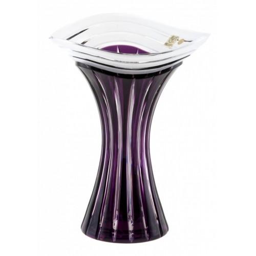 Vaso Dune, cristallo, colore viola, altezza 250 mm
