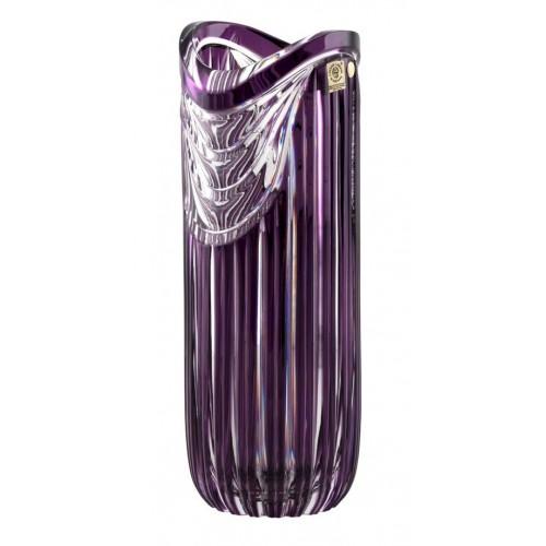 Vaso Harp, cristallo, colore viola, altezza 320 mm