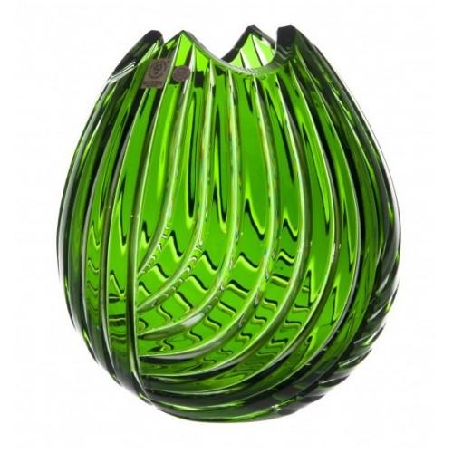 Vaso Linum, cristallo, colore verde, altezza 210 mm