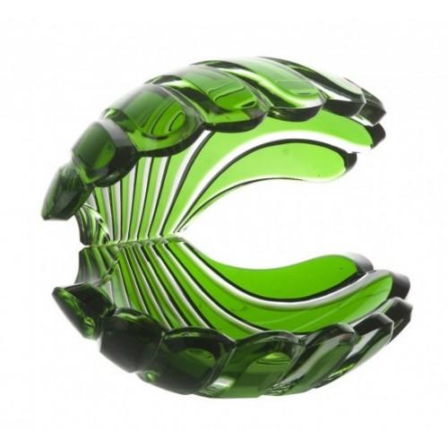 Conchiglia, cristallo, colore verde, altezza 140 mm