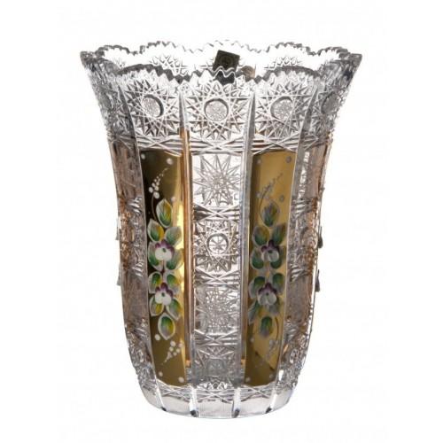 Vaso 500PK VI, cristallo trasparente dipinto oro, altezza 205 mm
