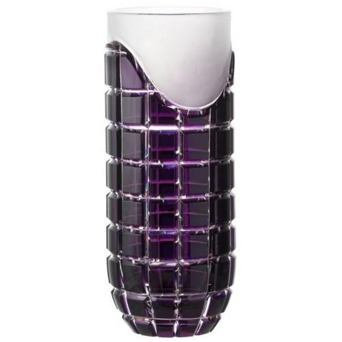 Vaso Neron, cristallo, colore viola, altezza 300 mm