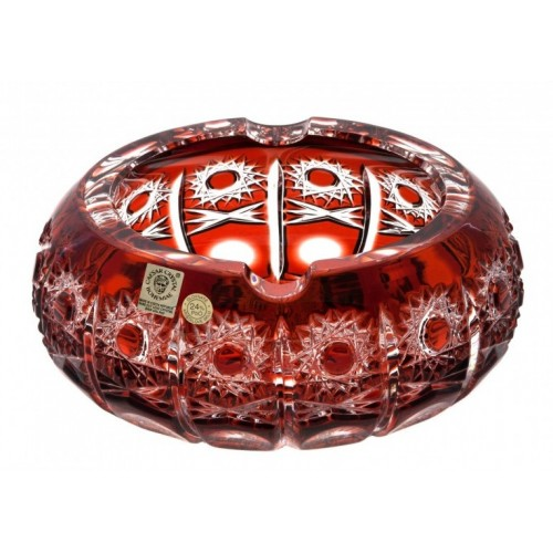 Portacenere Petra, colore rosso, diametro 130 mm