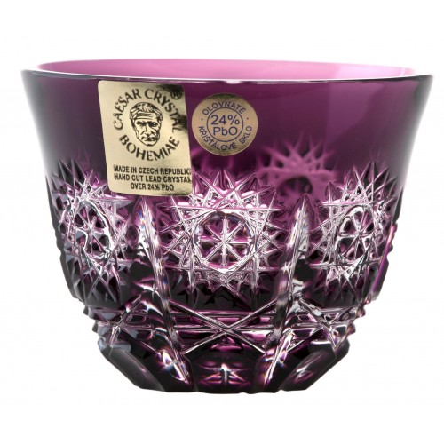 Bicchierino Paula, cristallo, colore viola, volume 65 ml
