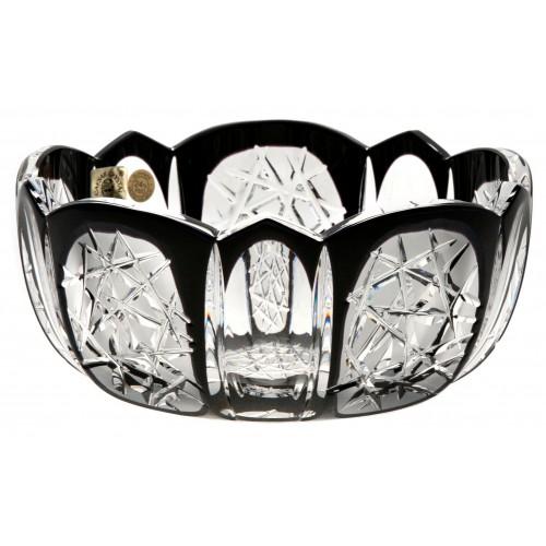 Insalatiera Frigus, cristallo, colore nero, diametro 155 mm