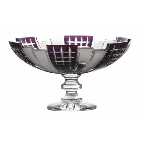 Portafrutta Metropolis, cristallo, colore viola, diametro 280 mm