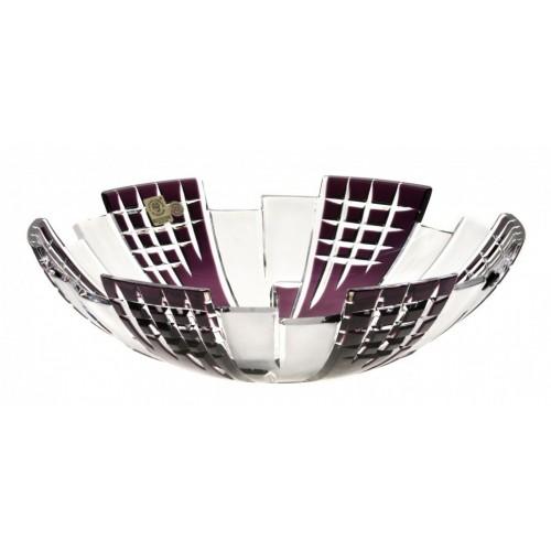Insalatiera Metropolis, cristallo, colore viola, diametro 280 mm