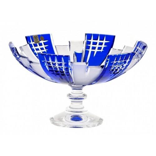 Portafrutta Metropolis, cristallo, colore blu diametro 280 mm