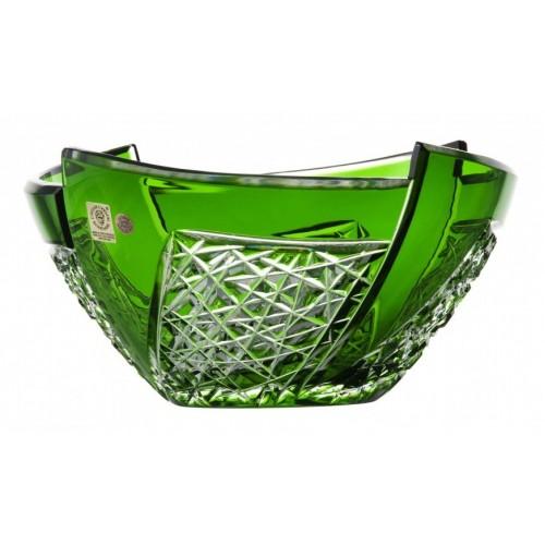 Insalatiera Fan, cristallo, colore verde, diametro 225 mm