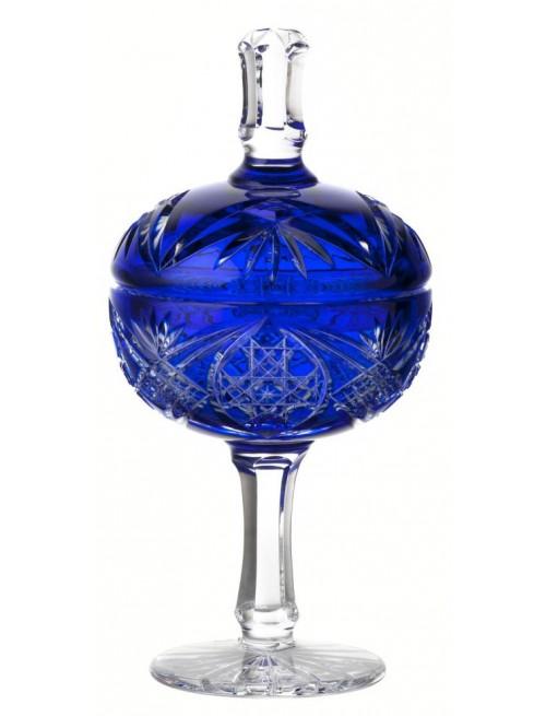 Coppa Taiga, cristallo, colore, blu, altezza 315 mm