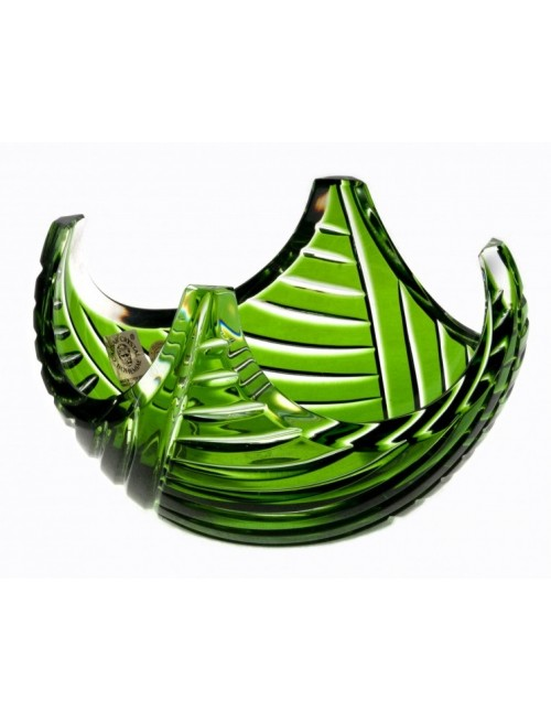 Ciotola Linum, cristallo, colore verde, diametro 140 mm