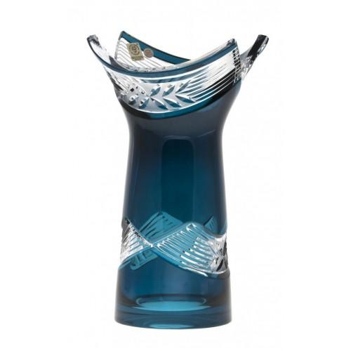 Vaso Laurel, cristallo, colore azzurro, altezza 255 mm