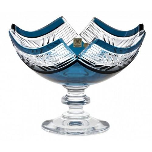 Portafrutta Laurel, cristallo, colore azzurro, diametro 230 mm