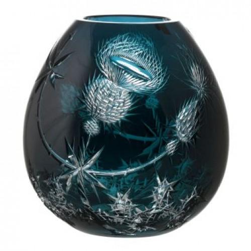 Vaso Thistle, cristallo, colore azzurro, altezza 280 mm