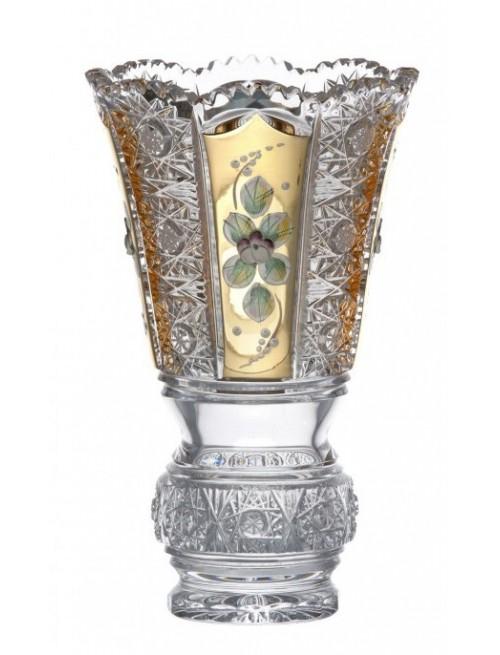 Vaso 500PK, cristallo trasparente dipinto oro, altezza 205 mm