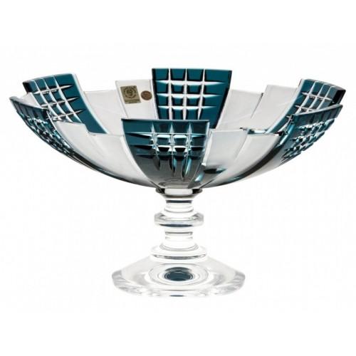 Portafrutta Metropolis, cristallo, colore azzurro, diametro 280 mm