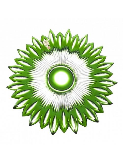 Piatto Flame, cristallo, colore verde, diametro 300 mm
