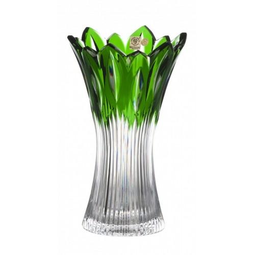 Vaso Flame, cristallo, colore verde, altezza 255 mm