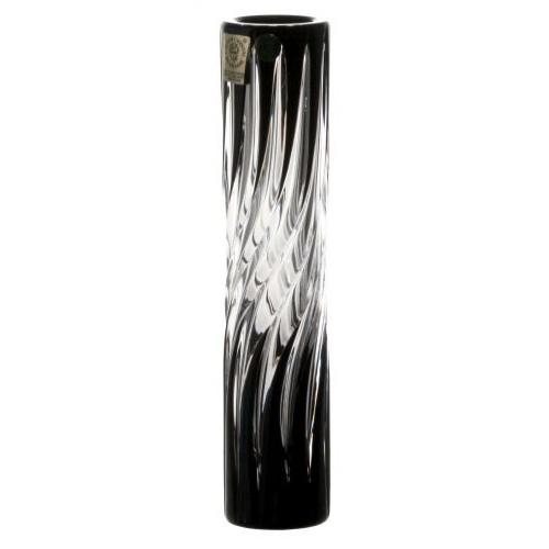 Vaso Zita, cristallo, colore nero, altezza 180 mm