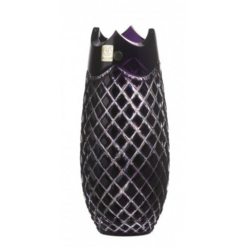 Vaso Qudrus, cristallo, colore viola, altezza 230 mm