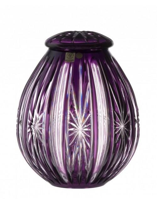 Urna Spark, cristallo, colore viola, altezza 230 mm