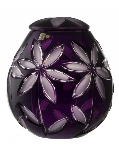 Urna Linda, cristallo, colore viola opaco, altezza 290 mm