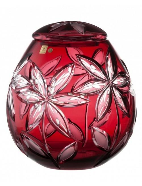 Urna Linda, cristallo, colore rosso, altezza 290 mm