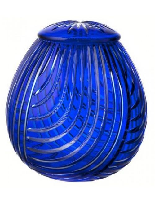 Urna Linum, cristallo, colore blu, altezza 290 mm