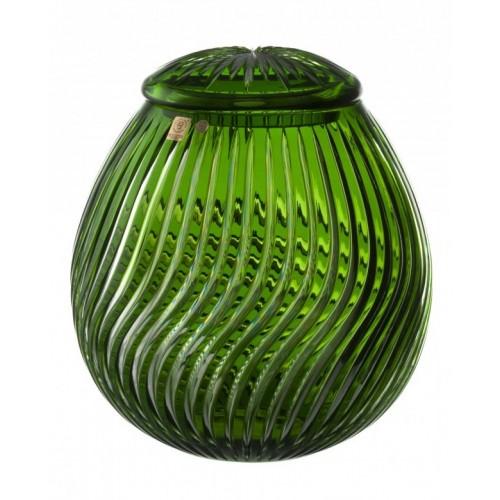 Urna Zita, cristallo, colore verde, altezza 290 mm
