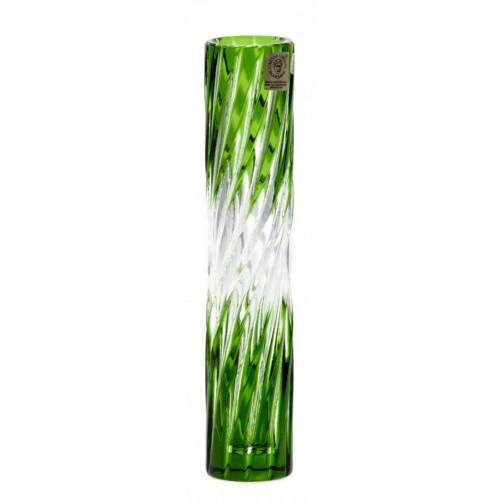 Vaso Zita, cristallo, colore verde, altezza 205 mm