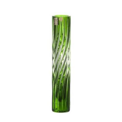 Vaso Zita, cristallo, colore verde, altezza 230 mm