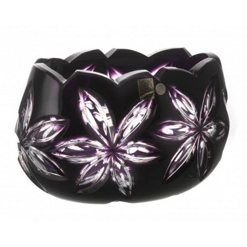 Insalatiera Linda, cristallo, colore viola, diametro 205 mm