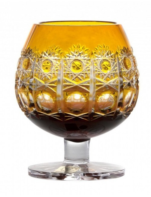 Bicchiere Brandy Petra, cristallo, colore ambra, volume 230 ml
