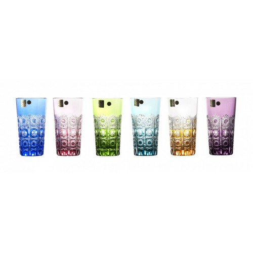 Set Bicchieri Petra, cristallo, multicolore