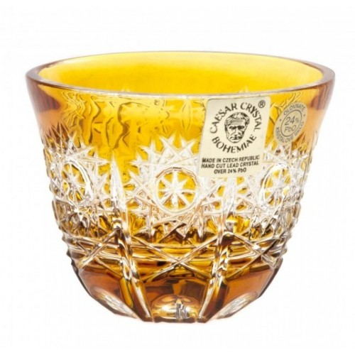 Bicchierino Paula, cristallo, colore ambra, volume 65 ml
