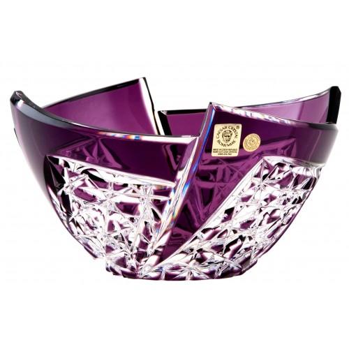 Insalatiera Fan, cristallo, colore viola, diametro 180 mm