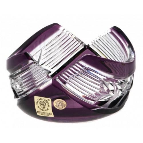 Ciotola Laurel, cristallo, colore viola, diametro 100 mm