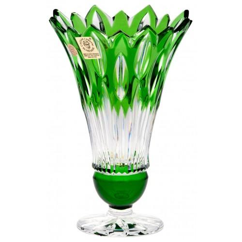 Vaso Flame, cristallo, colore verde, altezza 150 mm