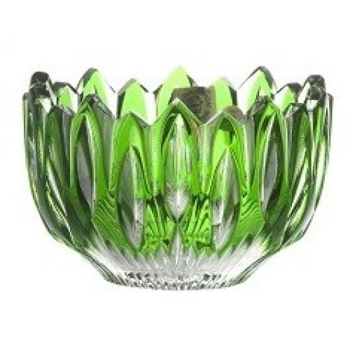 Citola Flame, cristallo, colore verde, diametro 110 mm