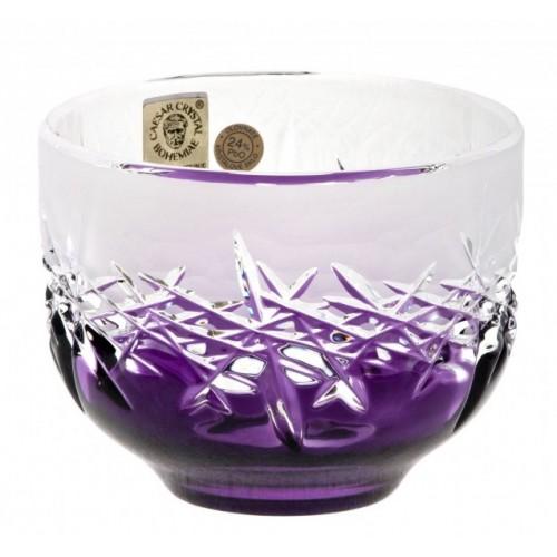 Ciotola Hoarfrost, cristallo, colore viola, diametro 95 mm